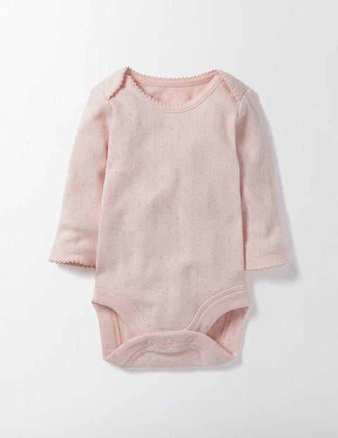 Supersoft Pointelle Body Pink Icing Baby Boden, Pink Icing