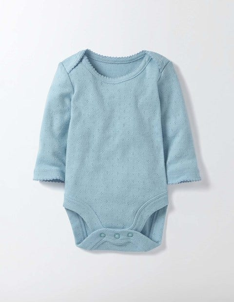 Supersoft Pointelle Body Mineral Blue Baby Boden, Mineral Blue.