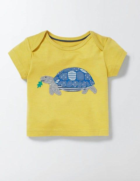 Big Appliqué Tshirt CantaloupeTortoise Baby Boden CantaloupeTortoise