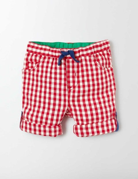 Rollup Trousers Red Admiral Gingham Baby Boden Red Admiral Gingham