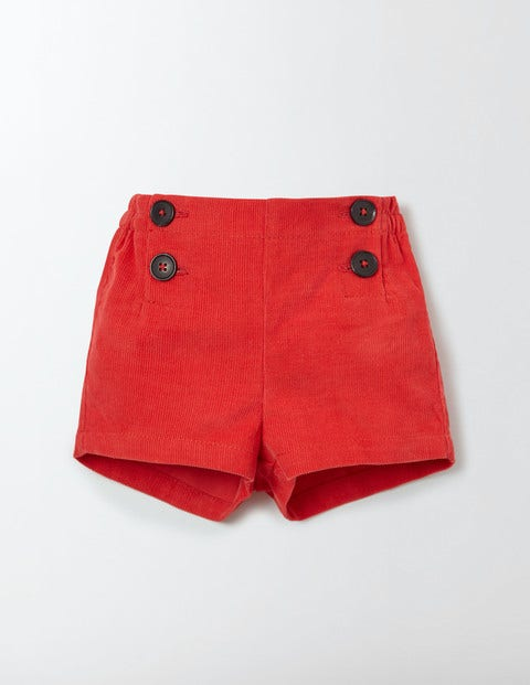 Classic Cord Shorts Salsa Red Baby Boden