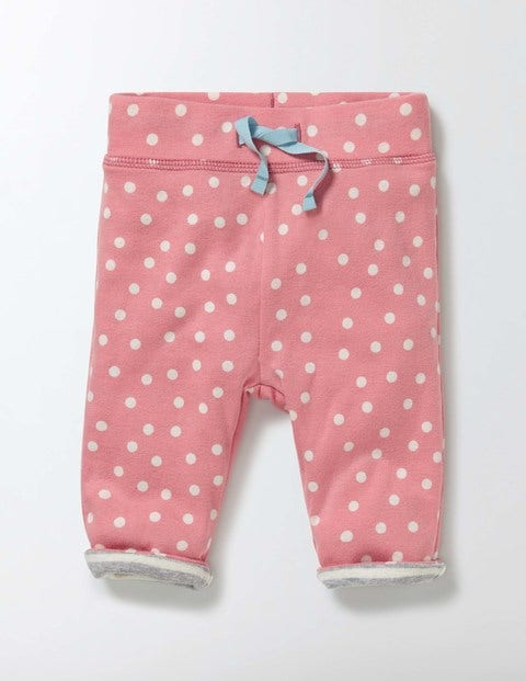 Supersoft Reversible Trousers Peach Sorbet Confetti Spot Baby Boden, Peach Sorbet Confetti Spot.