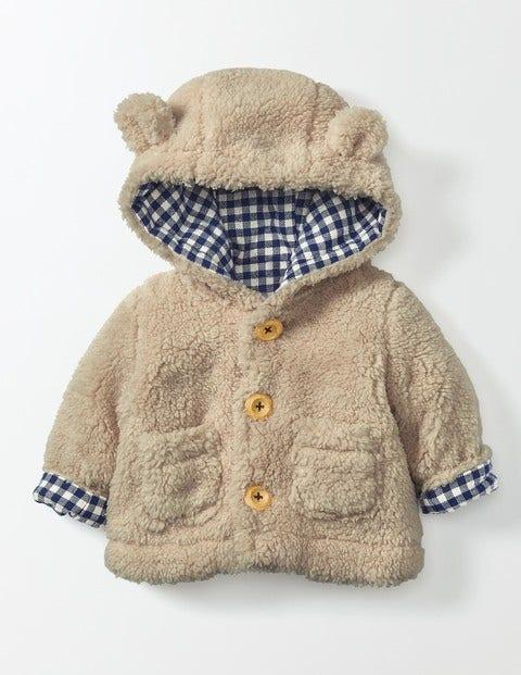 Cosy Animal Jacket Oatmeal Shaggy Baby Boden Oatmeal Shaggy