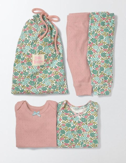 Cosy Pointelle Pack Waterfall Flowerbed Baby Boden, Waterfall Flowerbed.