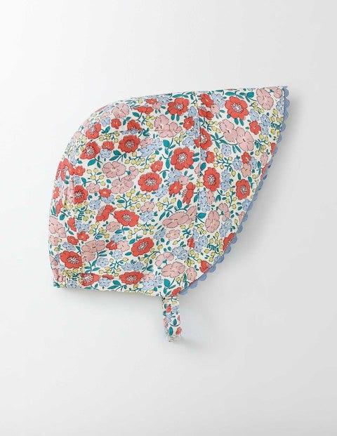 Bonnet Peach Sorbet Mini Flower Bed Baby Boden, Peach Sorbet Mini Flower Bed
