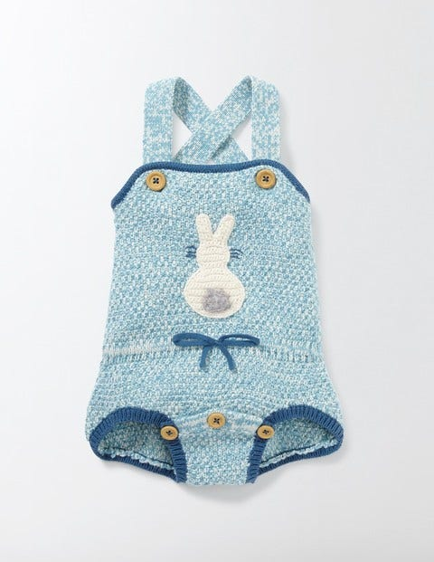 Vintage Style Children's Clothing: Girls, Boys, Baby, Toddler Retro Knitted Romper Delphinium Blue Baby Boden Delphinium Blue £28.00 AT vintagedancer.com