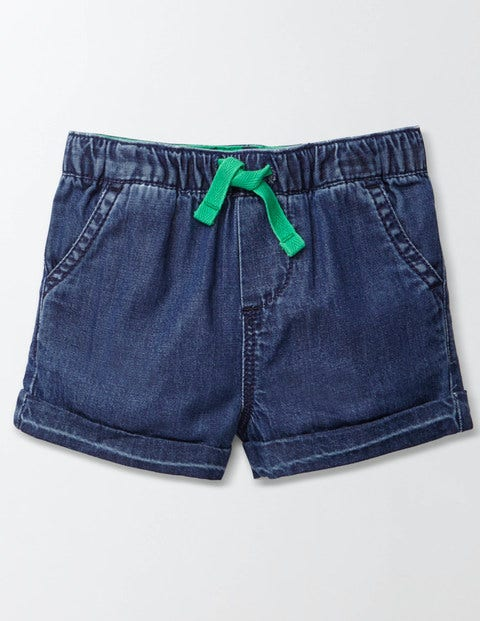 Baby Summer Shorts - Mid Denim