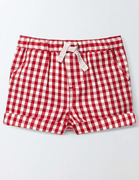 Baby Summer Shorts Red Admiral Gingham Baby Boden