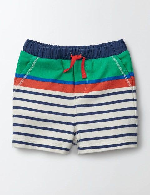 Jersey Shorts Astro Green/Skipper Fun Stripe Boys Boden