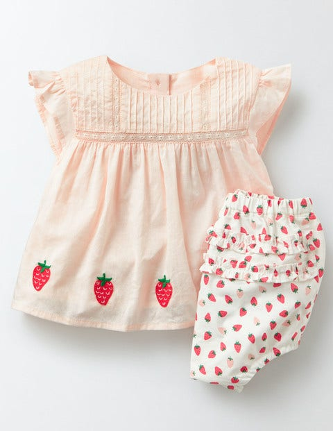 Kids 1950s Clothing & Costumes: Girls, Boys, Toddlers Holiday Play Set Coral Crush Strawberries Baby Boden Coral Crush Strawberries £30.00 AT vintagedancer.com