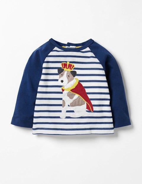 Big Appliqué T-shirt Ecru/Beacon Blue Royal Sprout Boys Boden