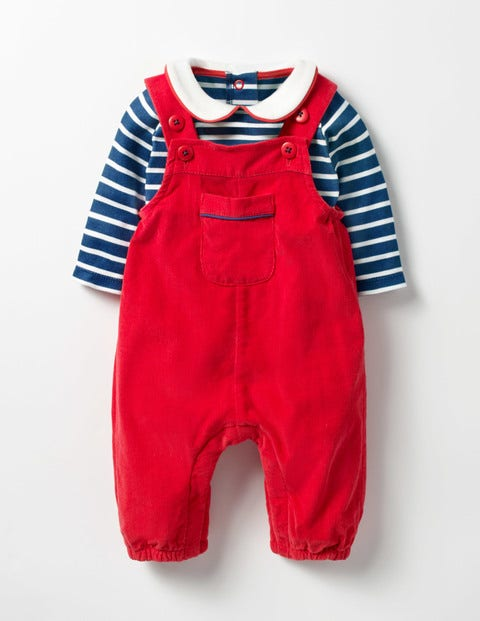 Kids 1950s Clothing & Costumes: Girls, Boys, Toddlers Nostalgic Dungarees Set Red Baby Boden Red £30.00 AT vintagedancer.com