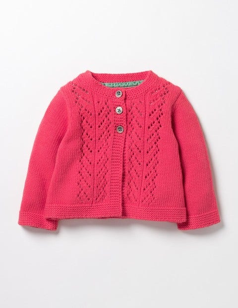 Cosy Cardigan Pinkberry Pink Baby Boden