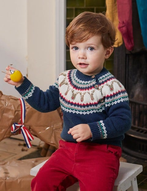Fair Isle Sweater Y0092 Knitted Sweaters at Boden