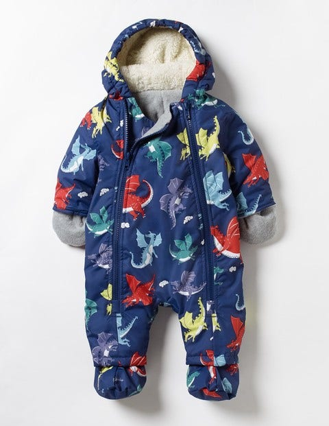 Baby Snowsuit Starboard Blue Baby Dragons Baby Boden
