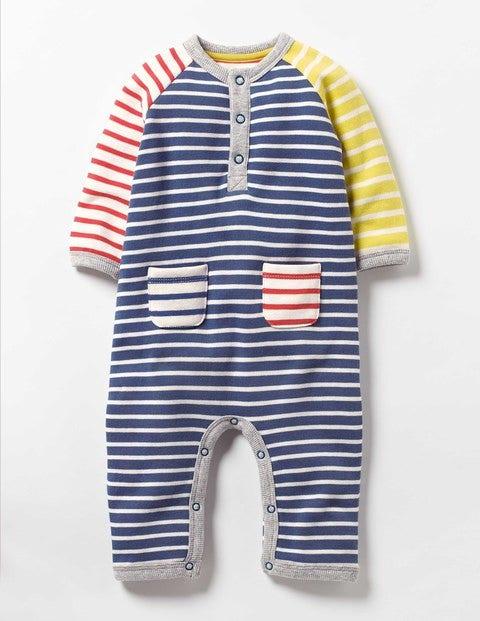 Cosy Winter Romper Multi Stripe Baby Boden