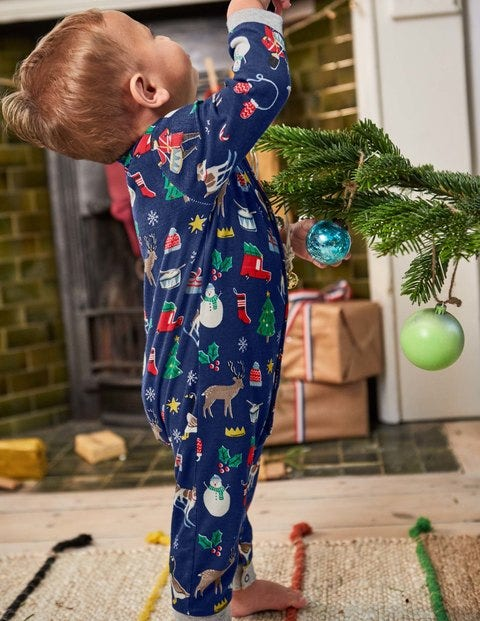 744a3fc96 Festive Jersey Playsuit Y0128 Newborn at Boden