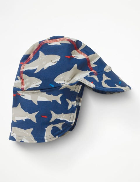 Image of Animal Swim Hat Blue Baby Boden, Blue