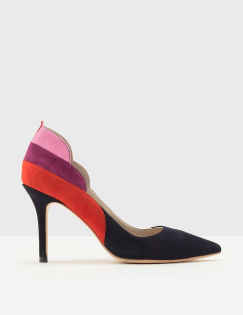 Carrie High Heel Courts - Multi Navy
