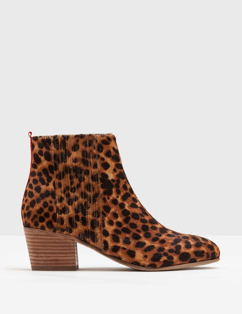 Vintage Style Boots, Retro Boots, Granny Boots, Fur Top Boots Alford Ankle Boots Tan Leopard Women Boden Tan Leopard £130.00 AT vintagedancer.com