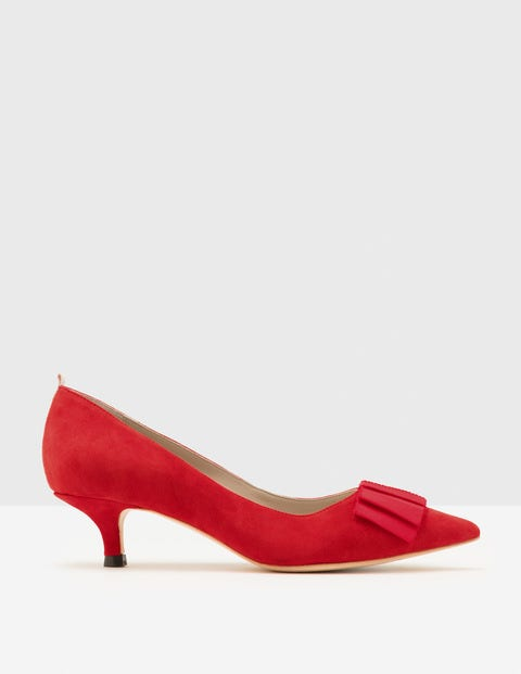 Vintage Style Shoes, Vintage Inspired Shoes Adelaide Kitten Heels Post Box Red Women Boden Post Box Red £98.00 AT vintagedancer.com