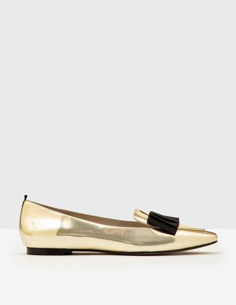 Geraldine Flats Pale Gold Metallic Women Boden