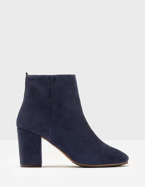 Vintage Style Shoes, Vintage Inspired Shoes Etta Ankle Boots Navy Women Boden Navy £130.00 AT vintagedancer.com