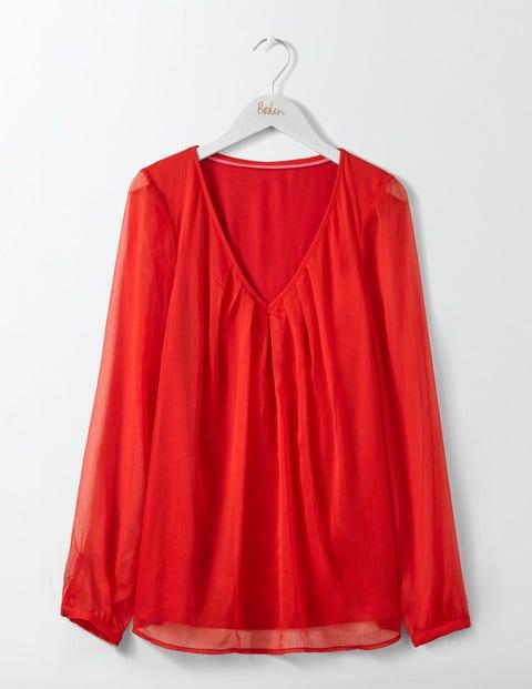 Aubrey Jersey Top - Post Box Red