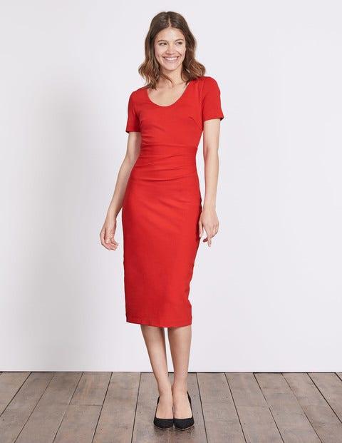 Honor Ponte Dress Post Box Red Women Boden