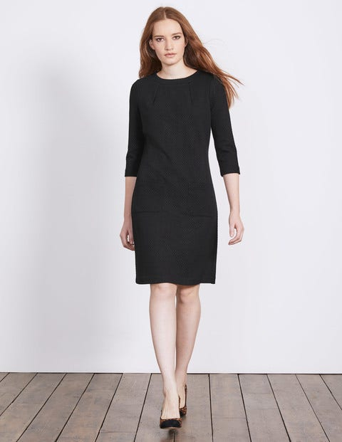 Marisole Jacquard Dress - Black