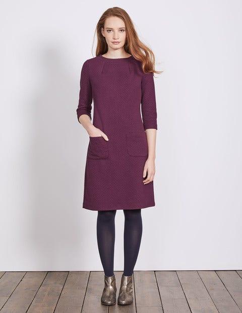 Marisole Jacquard Dress Black Forest Women Boden