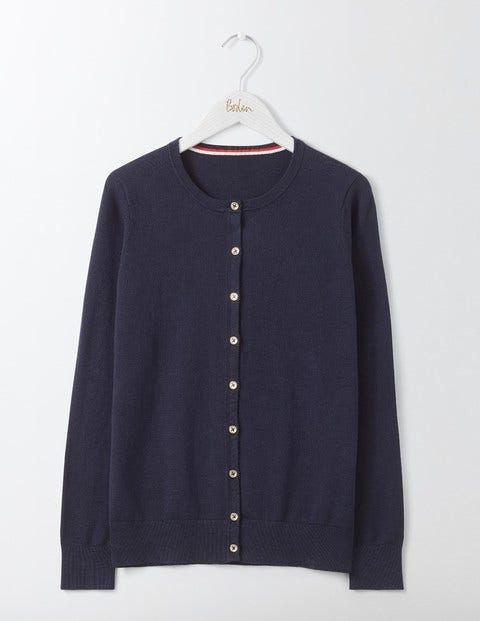 Vintage Sweaters: 1940s, 1950s, 1960s Pictures Cadence Cardigan Navy Women Boden Navy £55.00 AT vintagedancer.com