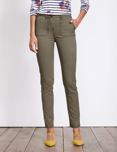 Amesbury Relaxed Chino Pants Fell Green Women Boden
