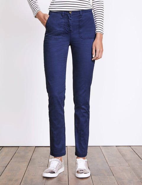 Amesbury Relaxed Chino Dark Blue Women Boden, Navy.