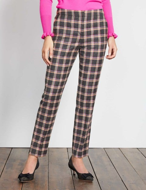 Retro Pants & Jeans British Tweed 78 Trousers Multi Check Women Boden Multi Check £98.00 AT vintagedancer.com