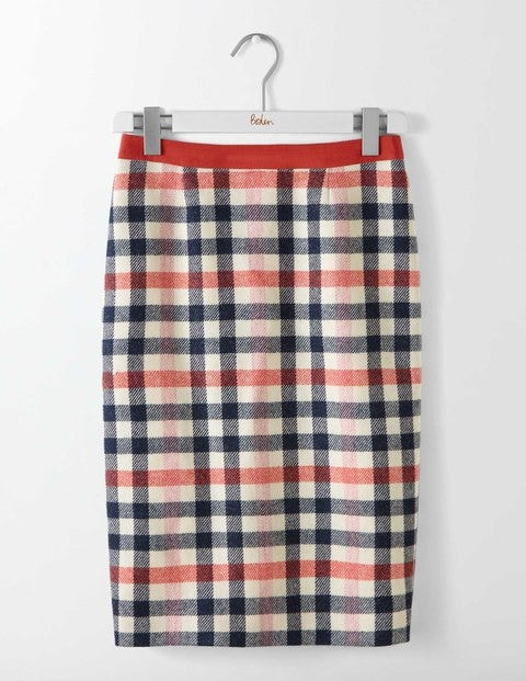 Retro Skirts: Vintage, Pencil, Circle, & Plus Sizes British Tweed Pencil Skirt Pink and Melon Crush Check Women Boden Pink and Melon Crush Check £90.00 AT vintagedancer.com