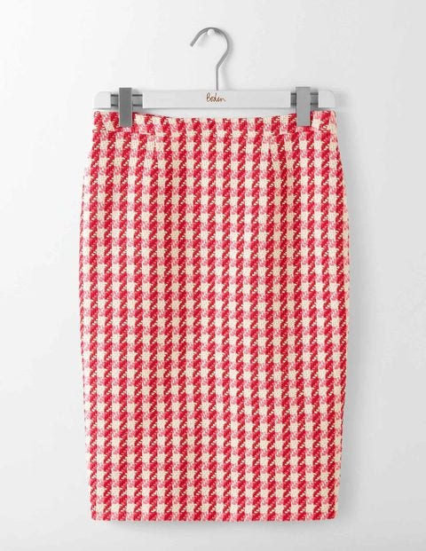 What Did Women Wear in the 1950s? Freya Pencil Skirt Red and Pink Check Women Boden Red and Pink Check £90.00 AT vintagedancer.com
