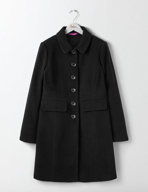 Shop 1960s Style Coats and Jackets Sofia Coat Black Women Boden Black £198.00 AT vintagedancer.com