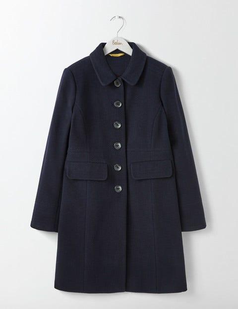 Shop 1960s Style Coats and Jackets Sofia Coat Navy Women Boden Navy £198.00 AT vintagedancer.com
