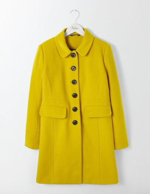 Shop 1960s Style Coats and Jackets Sofia Coat Saffron Women Boden Saffron £198.00 AT vintagedancer.com