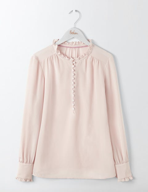 Ella Silk Blouse Chalky Rose Women Boden, Pink.