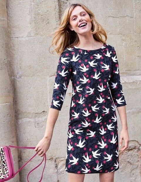 Alda Dress - Graphite Swallow Vine