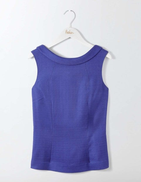 Shop 1960s Style Blouses, Shirts and Tops Martha Top Greek Blue Women Boden Greek Blue £60.00 AT vintagedancer.com