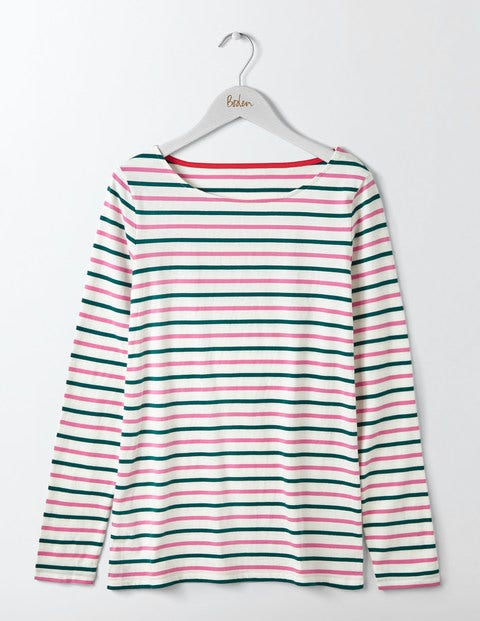 Langärmliges Bretonshirt Green Damen Boden 32 GdZWVS