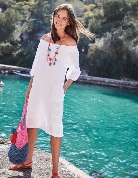 d7063182f0 Henrietta Linen Dress WW259 Summer Dresses at Boden