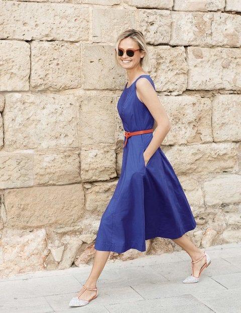Elena Dress - Greek Blue