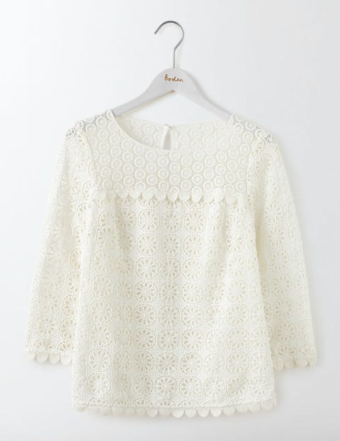 Poppy Lace Top in Ivory
