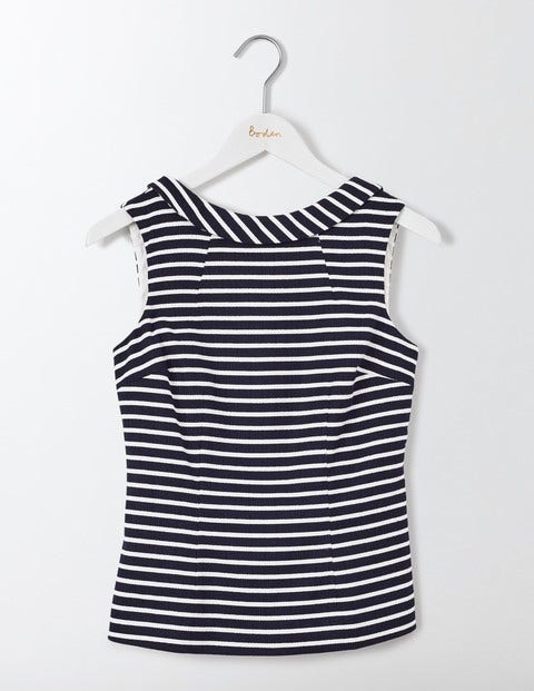 What Did Women Wear in the 1950s? Martha Top Navy and Ivory Stripe Women Boden Navy £48.00 AT vintagedancer.com