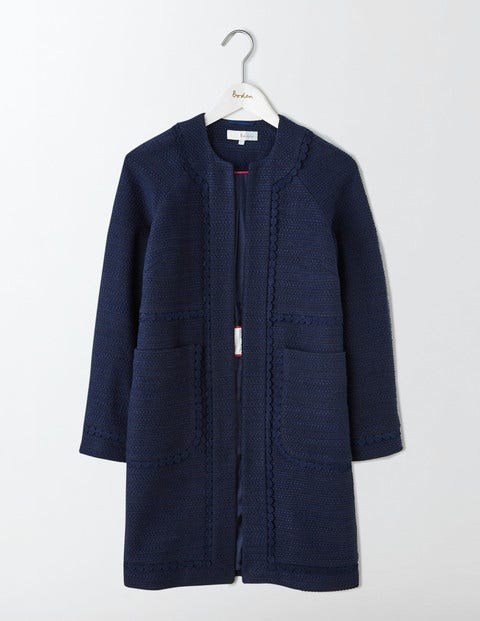 Jeanne Coat Navy Women Boden Navy