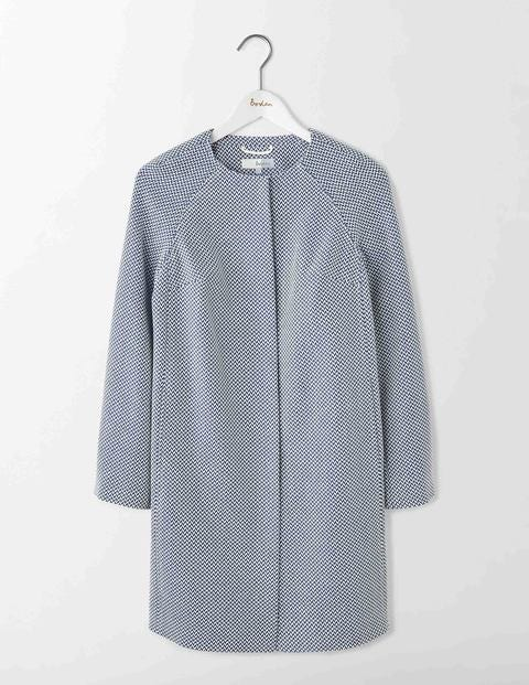 Retro Vintage Style Coats, Jackets, Fur Stoles Sienna Textured Coat Imperial Blue Women Boden Imperial Blue £190.00 AT vintagedancer.com
